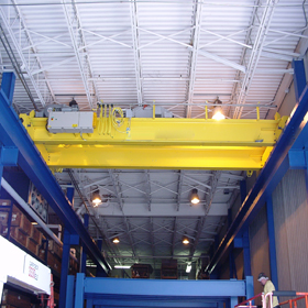 double girder top running bridge crane in india